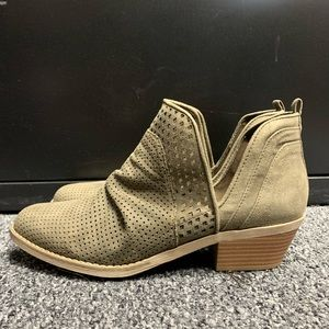 Cato Fashion Olive Green Booties